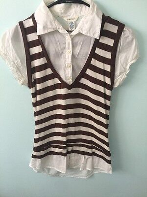 Maurice's Women's Blouse With sewn  In Vest Size Medium