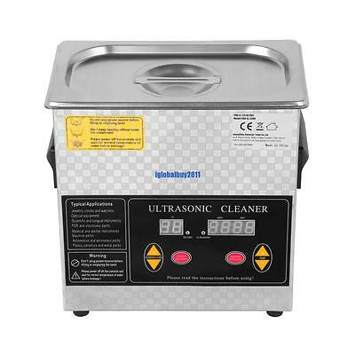Stainless Steel  Ultrasonic Cleaner 3L Liter Heated Heater w/Timer Industry