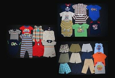 HUGE 28 piece Baby Boy Toddler size 18 months spring summer clothing lot!