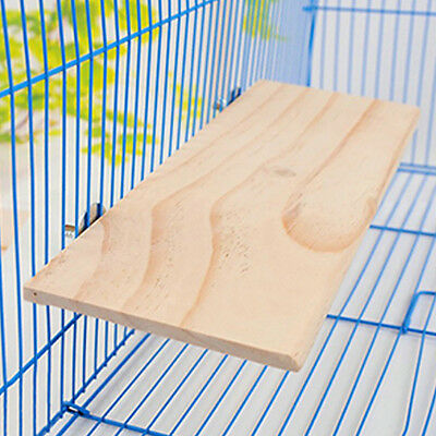 Large 10×15cm Wood Platform for Small Animal Cages Bird Parrot Toys