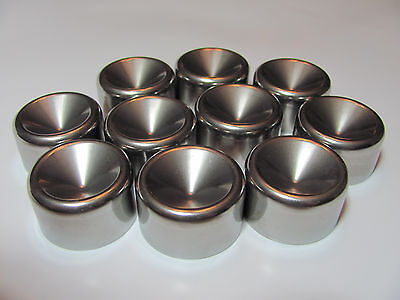 """Maglite """"D"""" Cups 1.345"""" Fits Standard D Cell Stainless Steel (7)"""