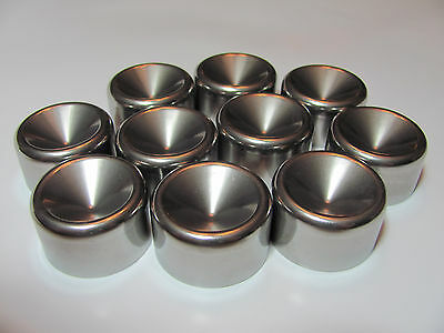 """Maglite """"D"""" Cups 1.345"""" Fits Standard D Cell Stainless Steel (10)"""
