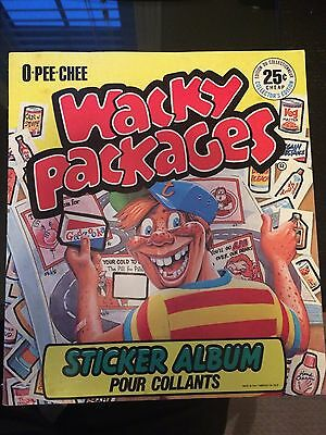 1982 Topps Wacky Packages - Completed Album with all stickers inside