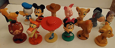 Lot Of 14 Kelloggs Disney Bobbleheads, Mickey, Minnie, Donald , Pluto, And More