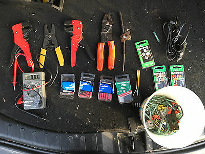 Electrical Pliers lot and Voltmeters and lot of electronics for automobiles
