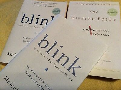Lot of 3 Malcolm Gladwell, 1 The Tipping Point & 2 Blink