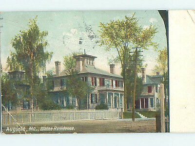 Bent Divided-Back HISTORIC HOME Augusta Maine ME hJ5096