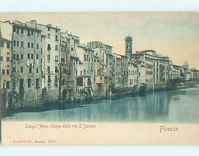 Pre-1907 BUILDINGS ON WATER Florence - Firenze Italy hJ6577