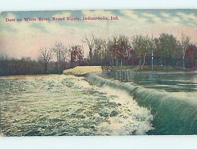 Divided-Back RIVER DAM Indianapolis Indiana IN HJ7714