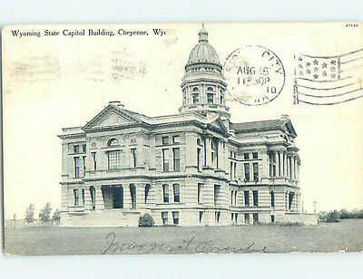 Damaged Divided-Back CAPITOL BUILDING Cheyenne Wyoming WY hJ5637