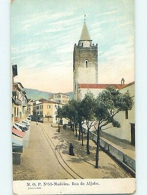 Pre-1907 BUILDING WITH TOWER Madeira Portugal hJ6633
