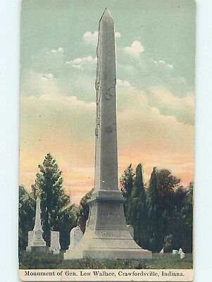 Divided-Back MONUMENT Crawfordsville Indiana IN HJ8093