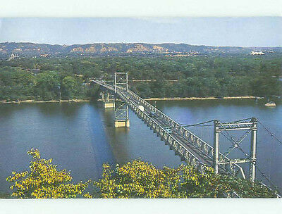 Pre-1980 BRIDGE SCENE Marquette Iowa And Prairie Du Chien Wisconsin WI HJ0822