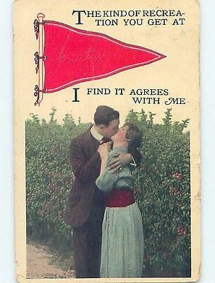 Divided-Back PENNANT POSTCARD Curtin West Virginia WV HM5135