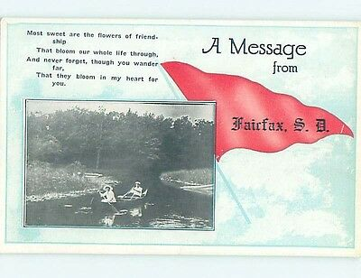 Divided-Back WILLIE FACTUM OVER LAST TIME PENNANT POSTCARD Fairfax SD HM5241