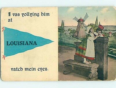 Divided-Back PENNANT POSTCARD Louisiana Missouri MO HM5279