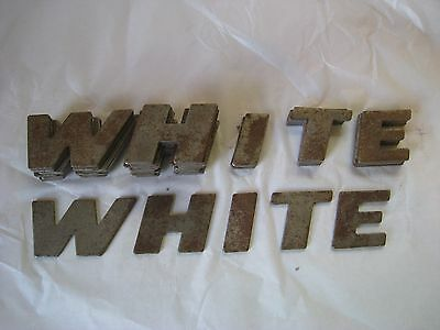 WFE White Farm Equipment Metal Letters 1 3/4 Inches High Tractor Restoration
