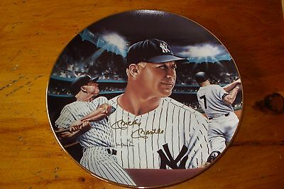 """Mickey Mantle """"Mickey at Night"""" Signed Collectors Plate"""