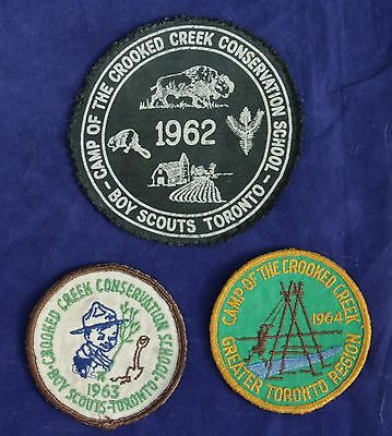 Vintage Badge Patch Collection - Crooked Creek Toronto Boy Scouts
