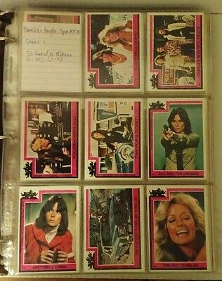 vtg 1977 CHARLIE'S ANGELS CARD SETS (ALL 4 SERIES 253 CARDS + 44 STICKERS) TOPPS