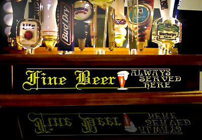 18 Beer Tap Handle Display With Remote Ctl Led Lighted Fine Beer Served Bar Sign