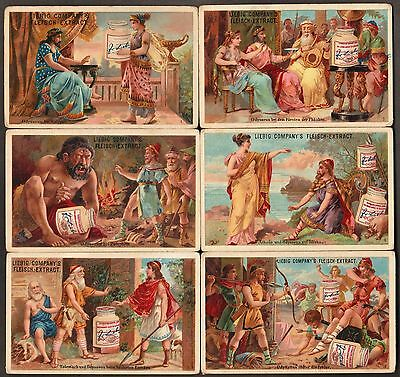 "Liebig S-166 ""ulysses"" Complete Series Of 6 Trade Cards 1883- German Language"