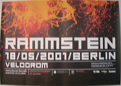 Rammstein German Concert Tour Poster 2001 Mutter Berlin