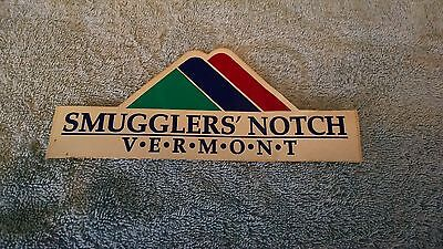 Smuggler's Notch Ski Area Vermont VT Sticker   OLD Vtg