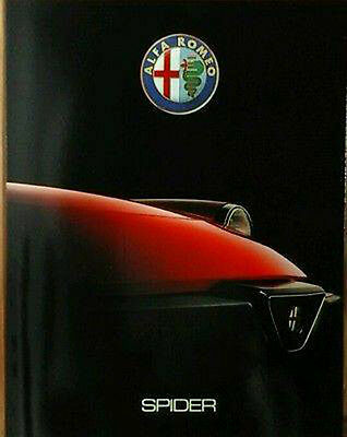 Alfa Romeo Spider Sales Brochure. Issued for 1989 through 1990.