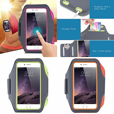 Sports jogging gym Breathable Neoprene lightweight phone armband arm band strap