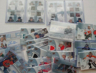 2014-15 UD Ice Upper Deck Singles UPick Lot Frozen Fabric Autographs Foursomes