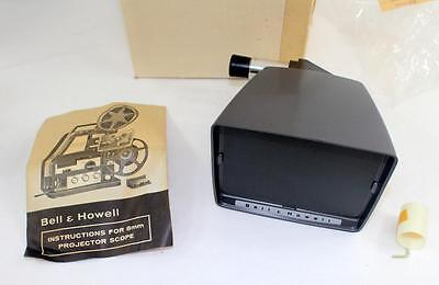 Rare Vintage Bell & Howell 8mm Projector Scope Attachment w/ Instructions & Box