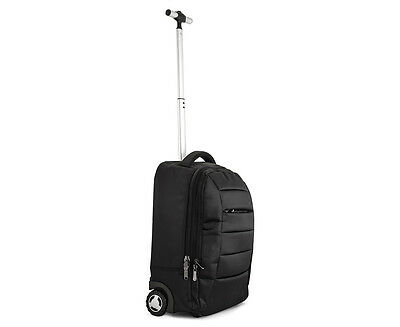 DGTEC Travel 2-in-1 Nylon Backpack with Trolley - Black
