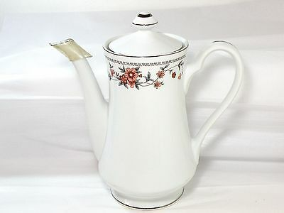 "Sheffield Anniversary Porcelain Fine China Coffee Pot With Lid, 9 1/2"", Japan"