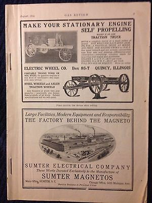 1914 Gas Review magazine hit miss antique tractor traction engines brochure