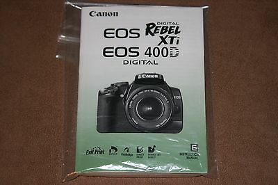 Canon EOS XTi 400D user manual instruction Guide