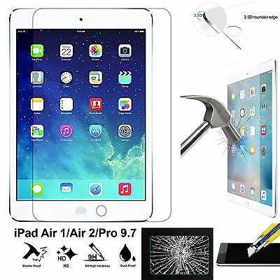 Full 9H Tempered Glass 4H PET Apple iPad AIR 1 2 PRO 9.7 inch screen protector