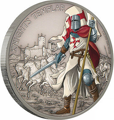 2017 Warriors Of History - Knights Templar 1oz Silver Coin