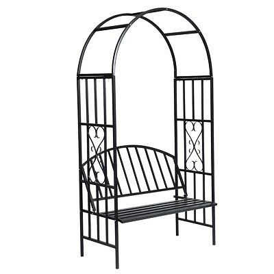 # Garden Metal Rose Arch 210cm Outdoor Wedding Patio Bench Arbor Gardman Arbour