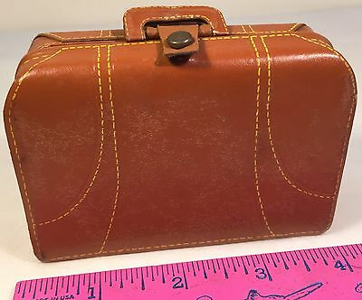 Vintage Miniature Leather Briefcase Address Book Notepad Pencil Handmade Canada