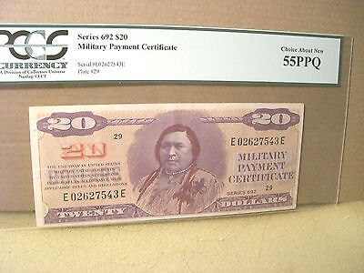Military Payment Certificate Series 692 $20 PCGS 55PPQ Choice About New
