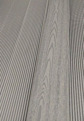 Wpc Grey Plastic Wood Composite Decking Boards Home Garden New Summer Sale!