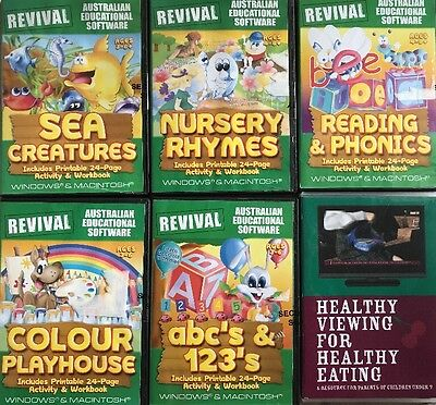 Revival Australian Educational Software Plus Healthy Eating CDs Teacher Resource