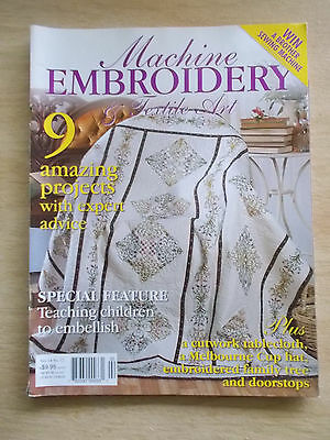Machine Embroidery & Textile Art Vol 14 #12~Hat~Cutwork~Family Tree~Quilt~Roses
