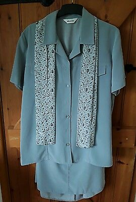 Damart ladies skirt and shirt outfit size 16