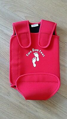 baby swim warmer 0-6 months, wrap in red extremely good condition