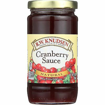 R.W. Knudsen Cranberry Sauce - 100 Percent Natural - 10 oz - case of 12