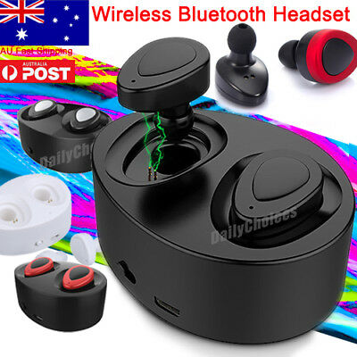 Mini Wireless Bluetooth Stereo Twins Earbuds Headset In-Ear Earphones For Phone