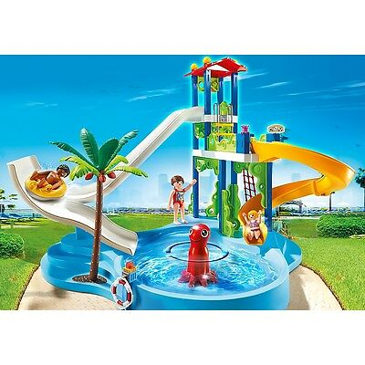 Playmobil Water Park with Slides Kids Play Set with Action Figures (6669)