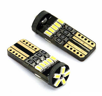 2 x LED T10 16 SMD 3014 Lampe CANBUS Xenon Weiss W2.1x9.5d 12V